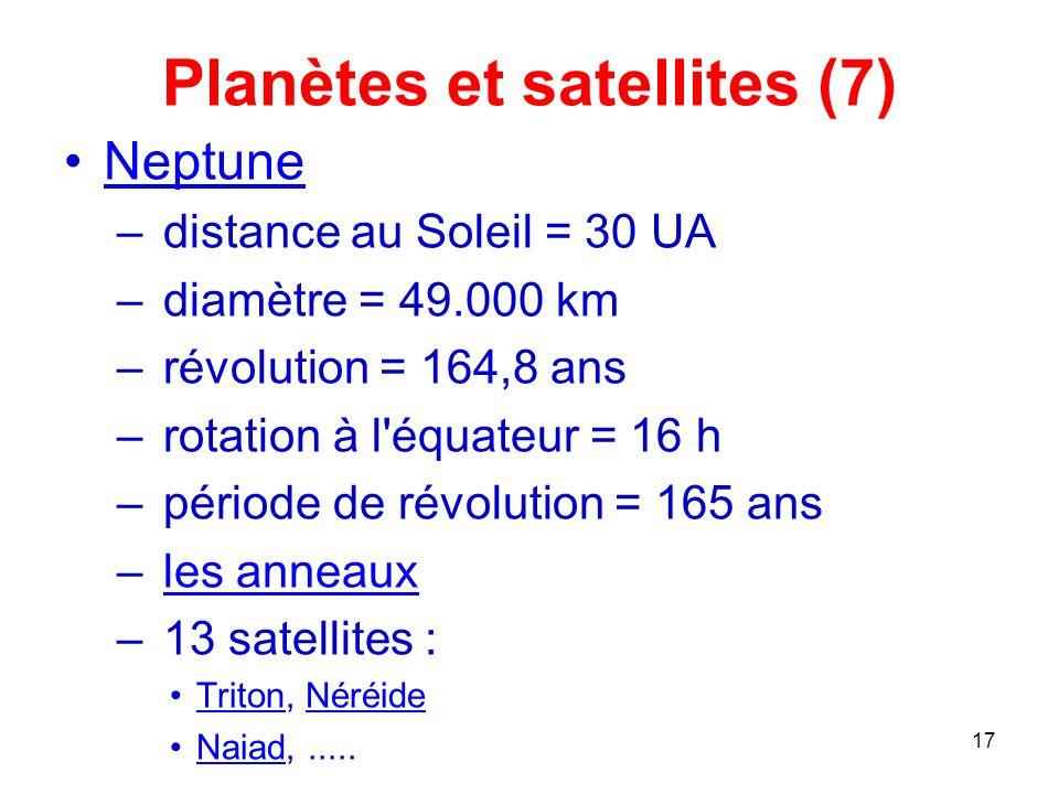 Planètes et satellites (7)
