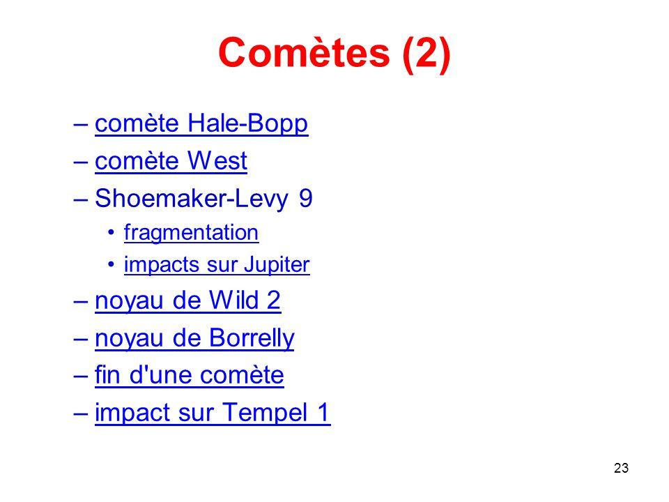 Comètes (2) comète Hale-Bopp comète West Shoemaker-Levy 9