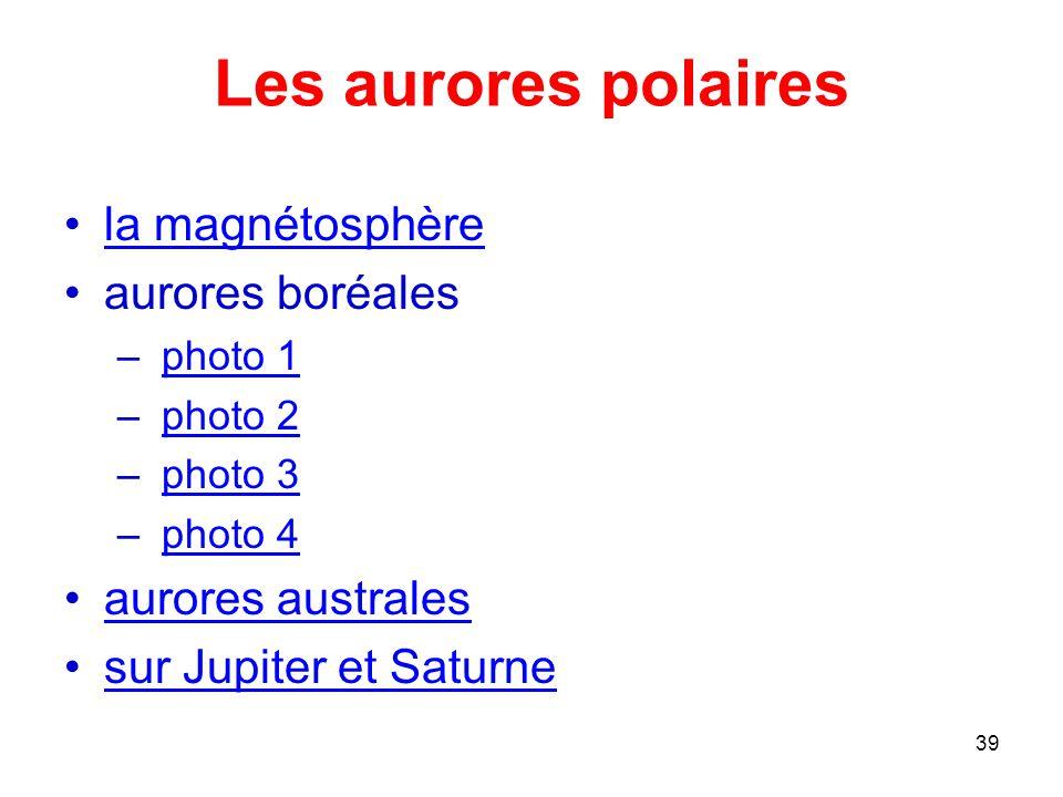 Les aurores polaires la magnétosphère aurores boréales
