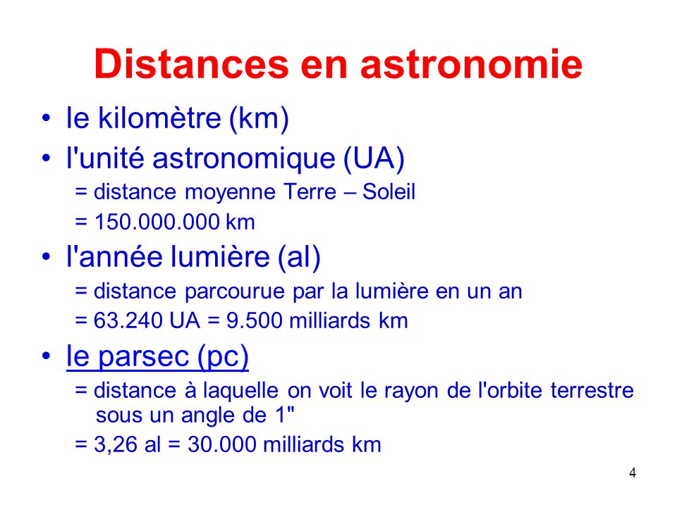 Distances en astronomie
