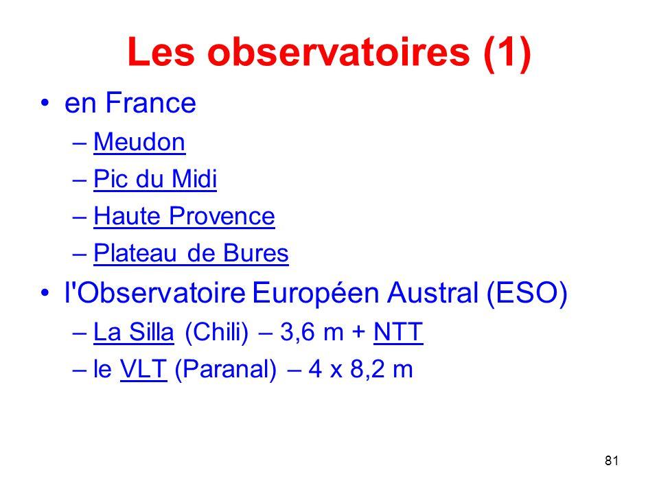 Les observatoires (1) en France l Observatoire Européen Austral (ESO)