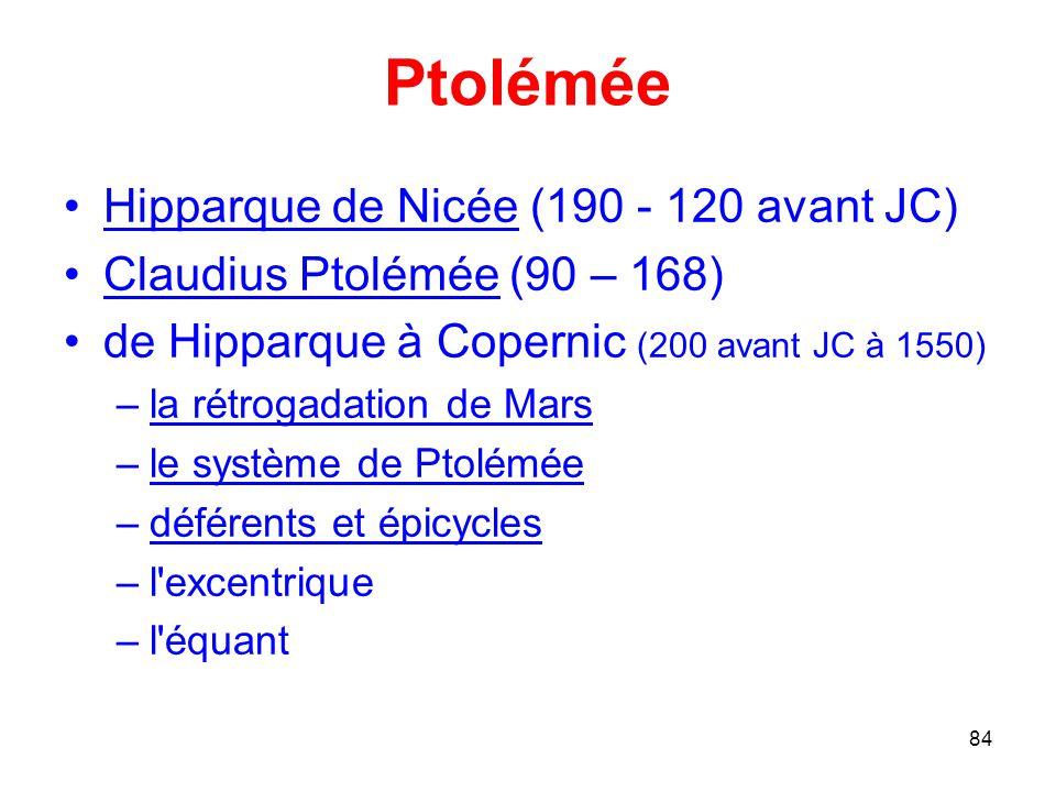 Ptolémée Hipparque de Nicée (190 - 120 avant JC)