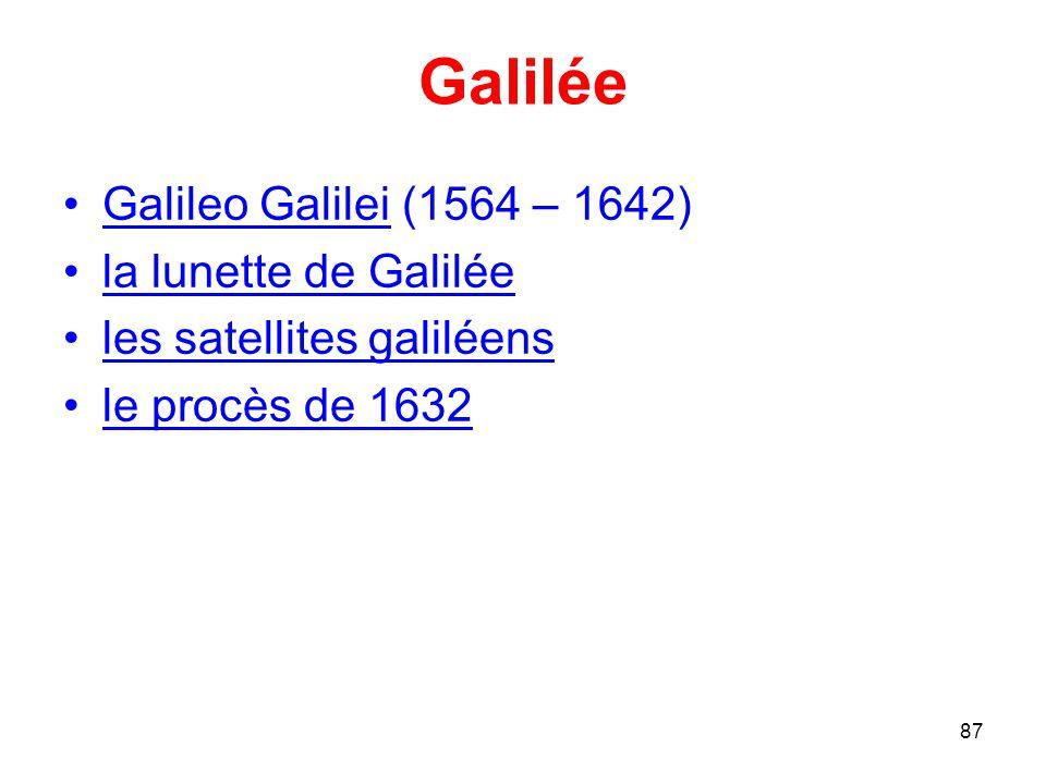 Galilée Galileo Galilei (1564 – 1642) la lunette de Galilée