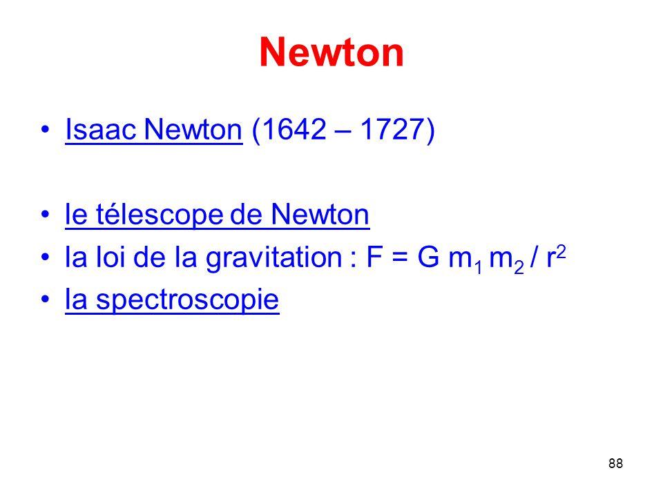 Newton Isaac Newton (1642 – 1727) le télescope de Newton