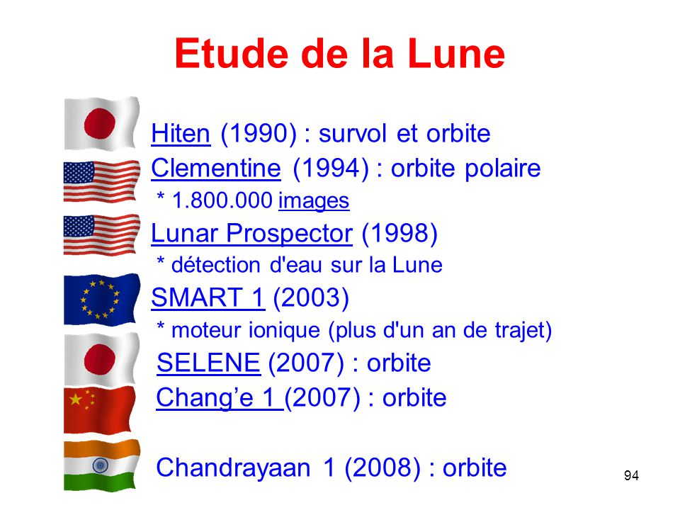 Etude de la Lune Hiten (1990) : survol et orbite