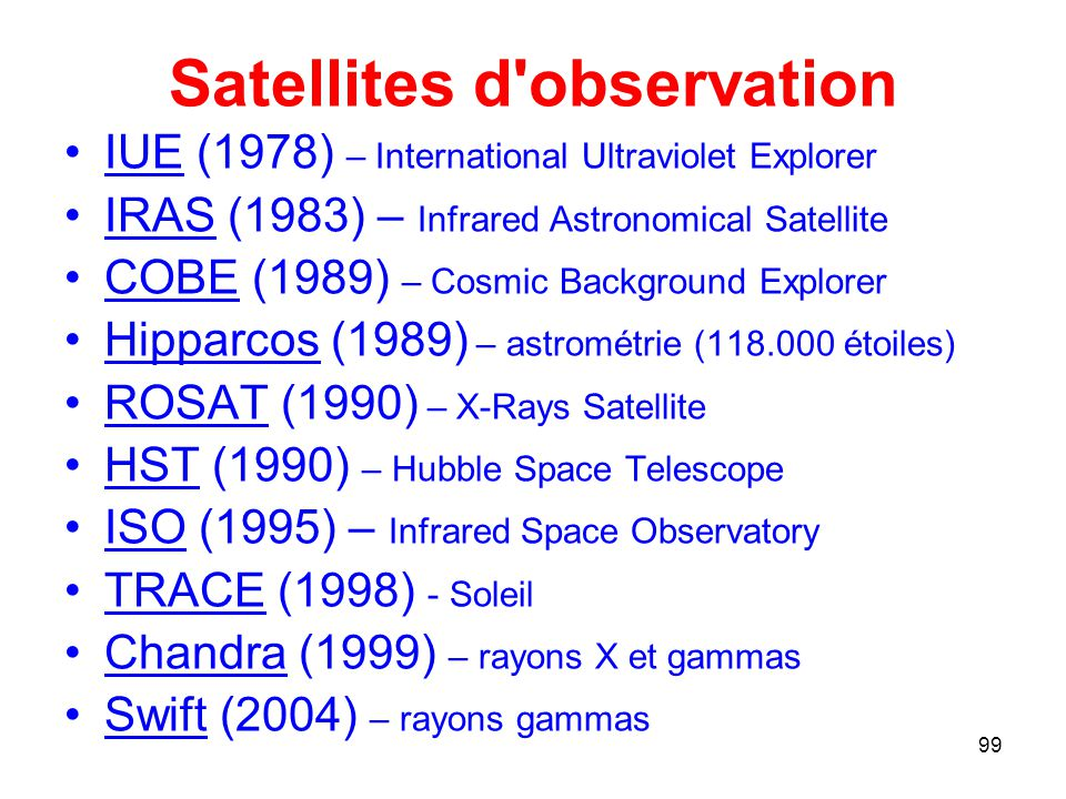Satellites d observation