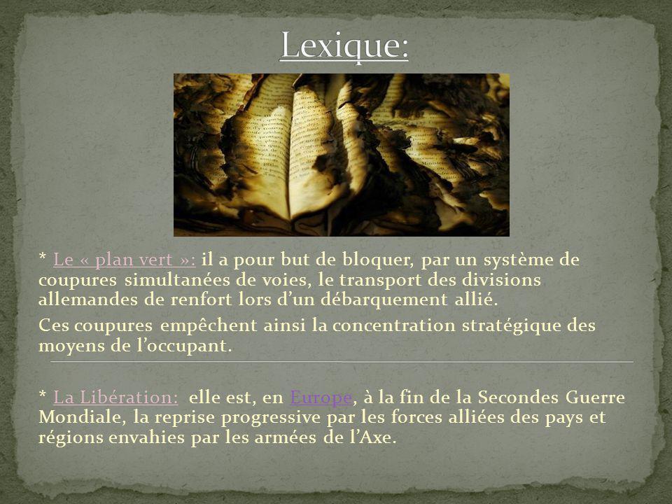 Lexique: