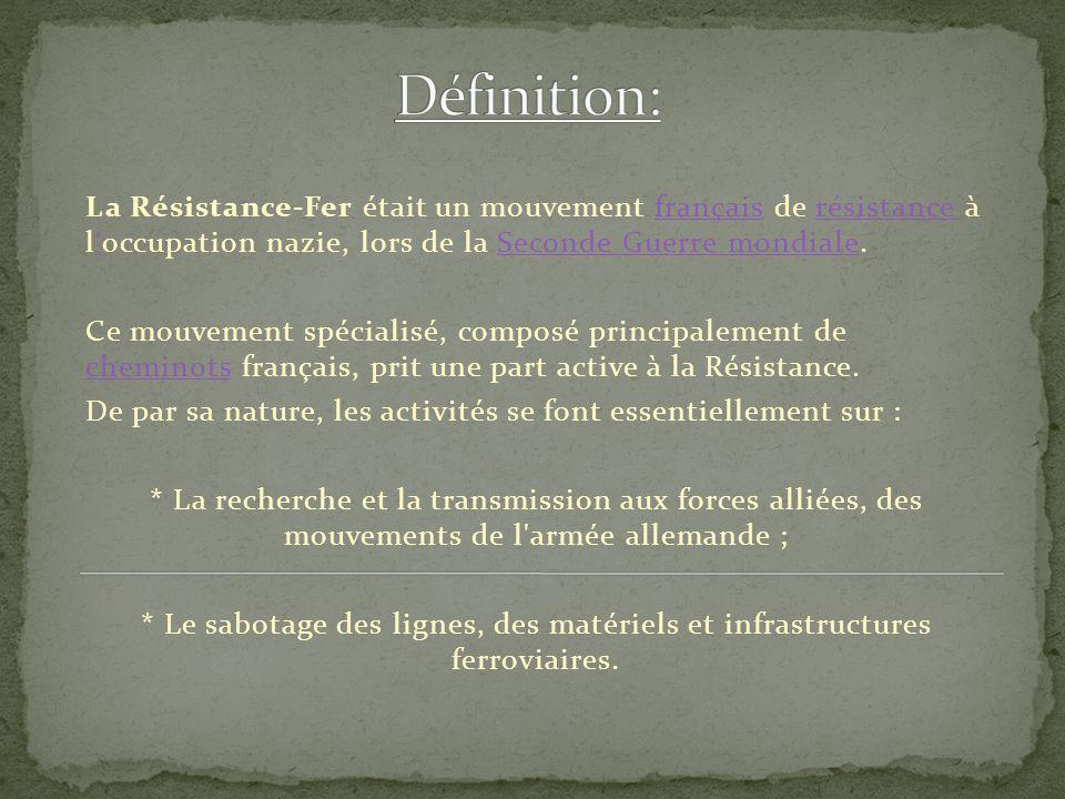 La r sistance fer en france ppt t l charger for Definition de l