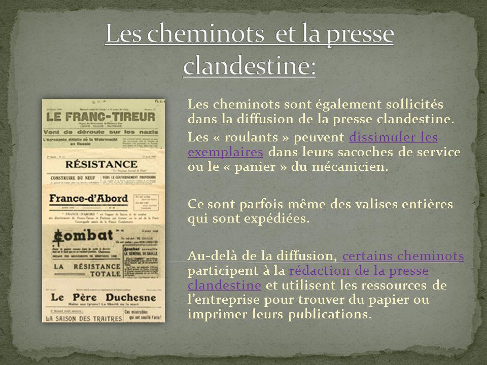 Les cheminots et la presse clandestine:
