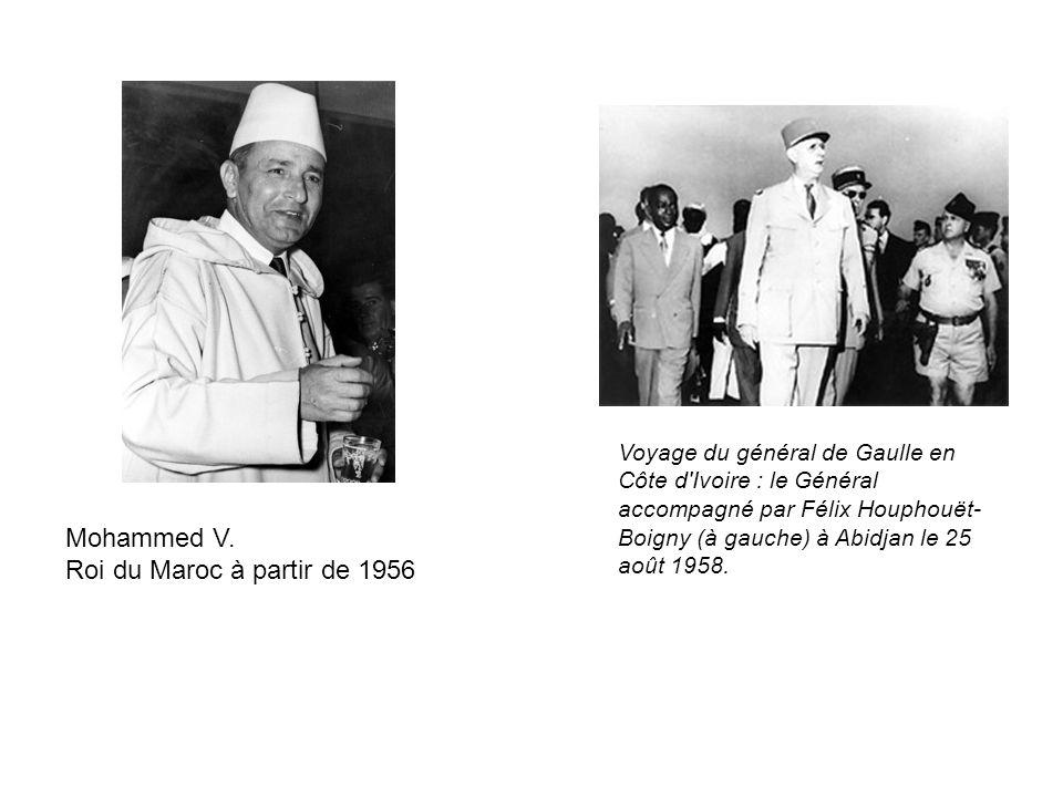 Mohammed V. Roi du Maroc à partir de 1956