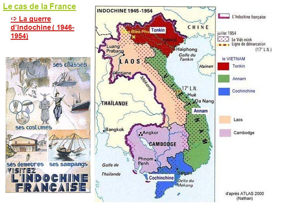 Le cas de la France  La guerre d'Indochine ( 1946-1954)