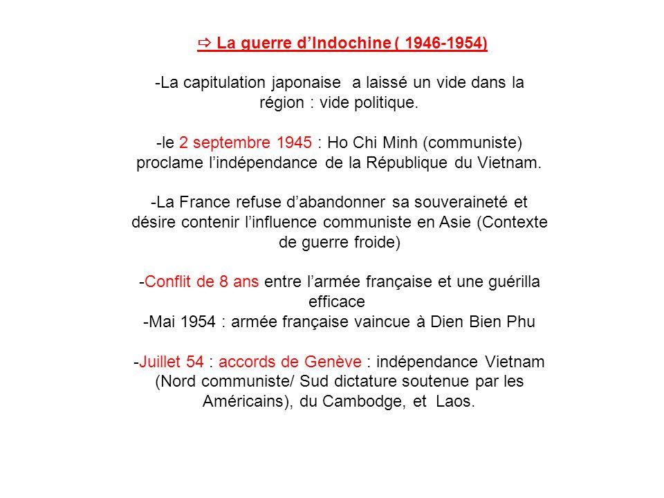  La guerre d'Indochine ( 1946-1954)