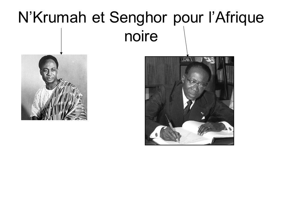 N'Krumah et Senghor pour l'Afrique noire