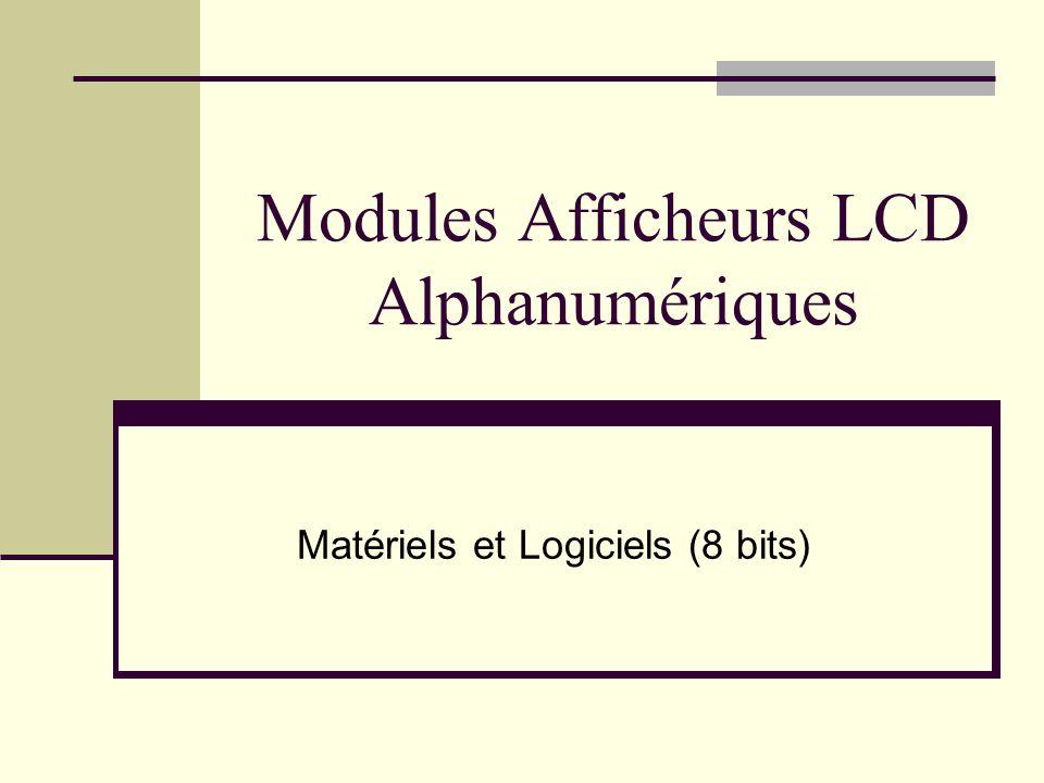 Modules Afficheurs LCD Alphanumériques