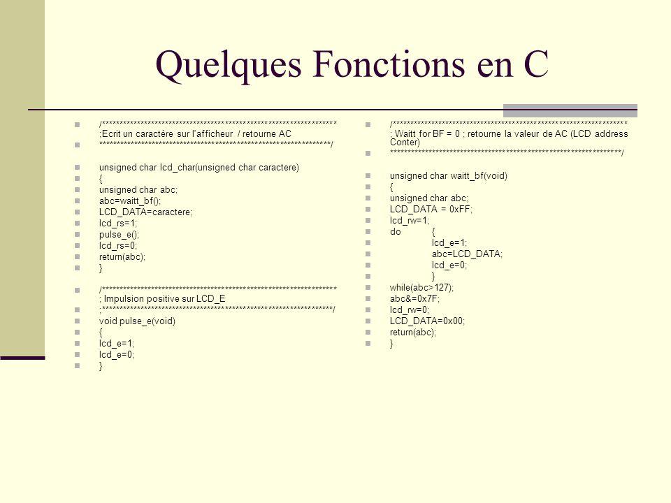 Quelques Fonctions en C