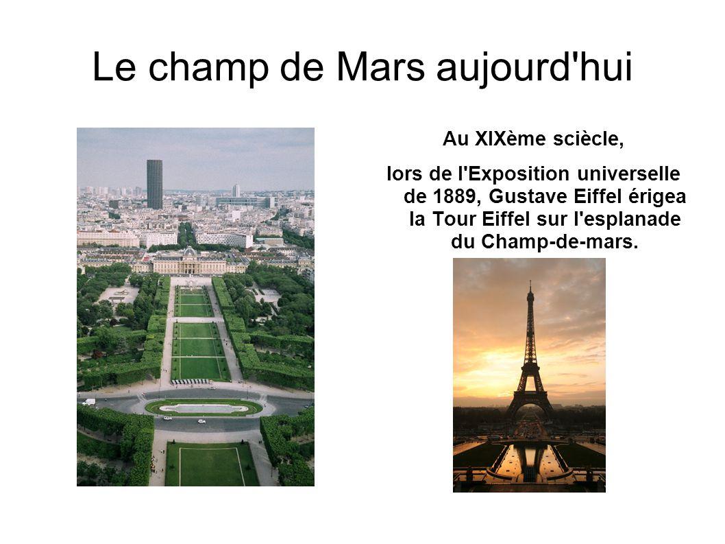 Le champ de Mars aujourd hui