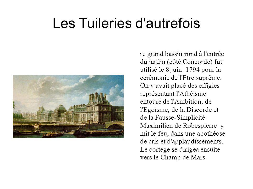 Les Tuileries d autrefois
