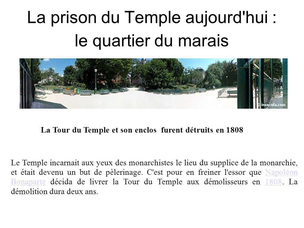 La prison du Temple aujourd hui : le quartier du marais