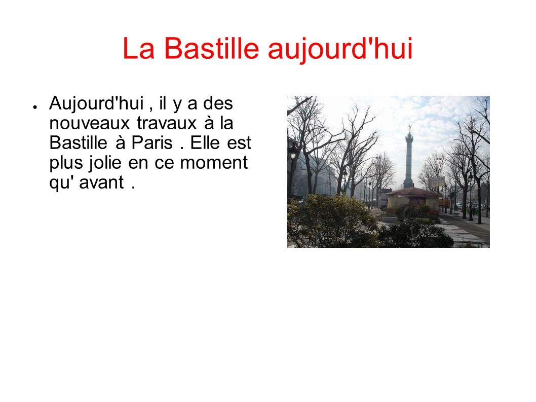 La Bastille aujourd hui