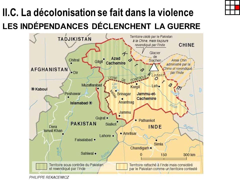 II.C. La décolonisation se fait dans la violence