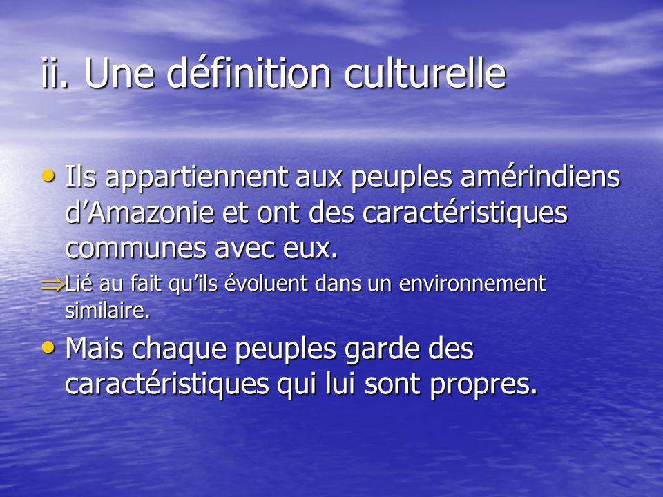 ii. Une définition culturelle
