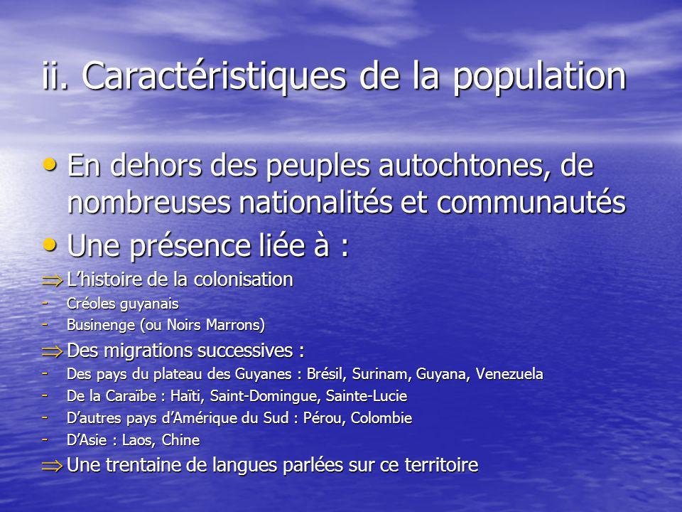 ii. Caractéristiques de la population