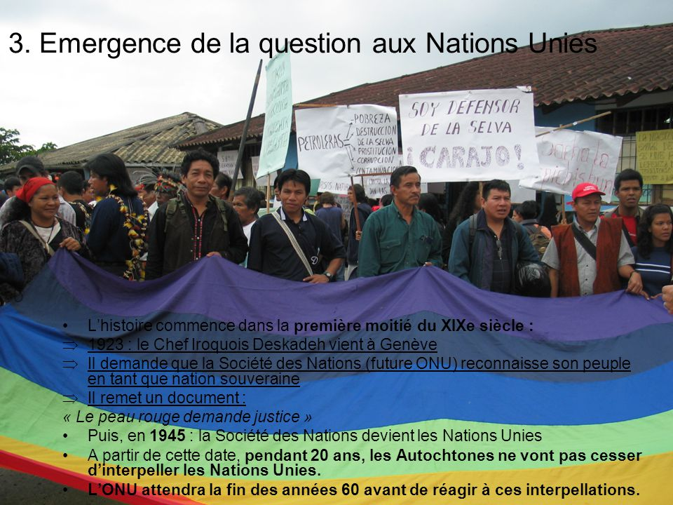 3. Emergence de la question aux Nations Unies