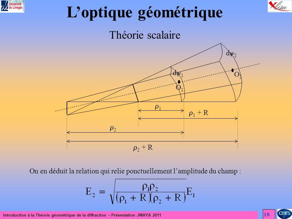 L'optique géométrique