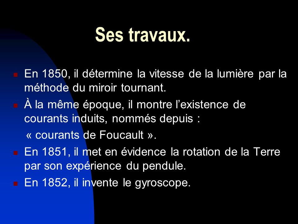 L on foucault une grande figure du xixe si cle ppt for Miroir tournant