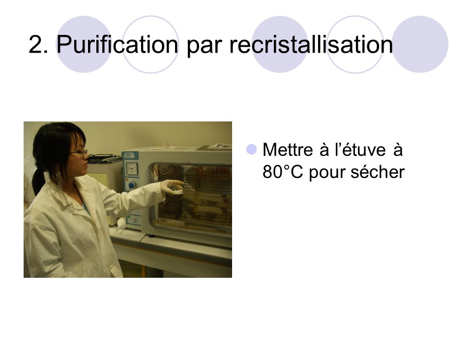 2. Purification par recristallisation