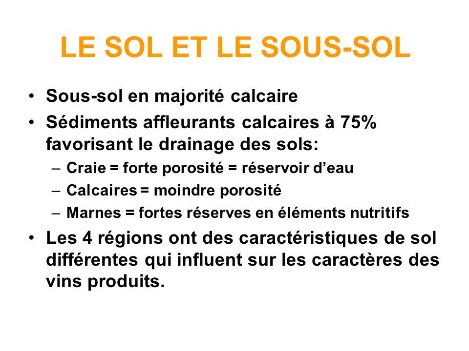 LE SOL ET LE SOUS-SOL Sous-sol en majorité calcaire