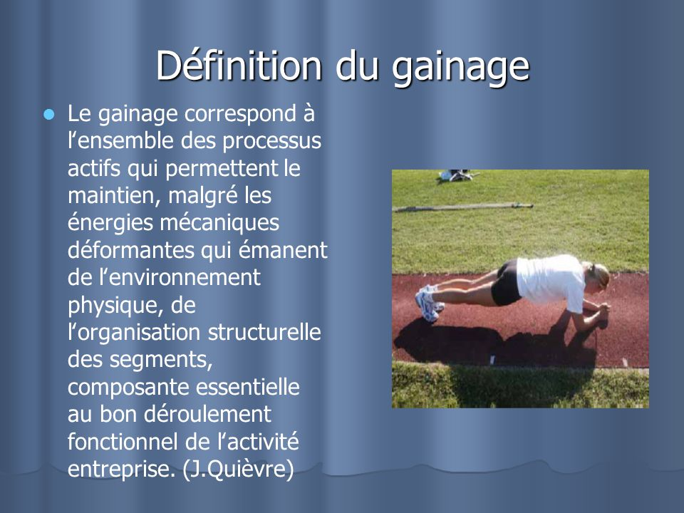 Définition du gainage