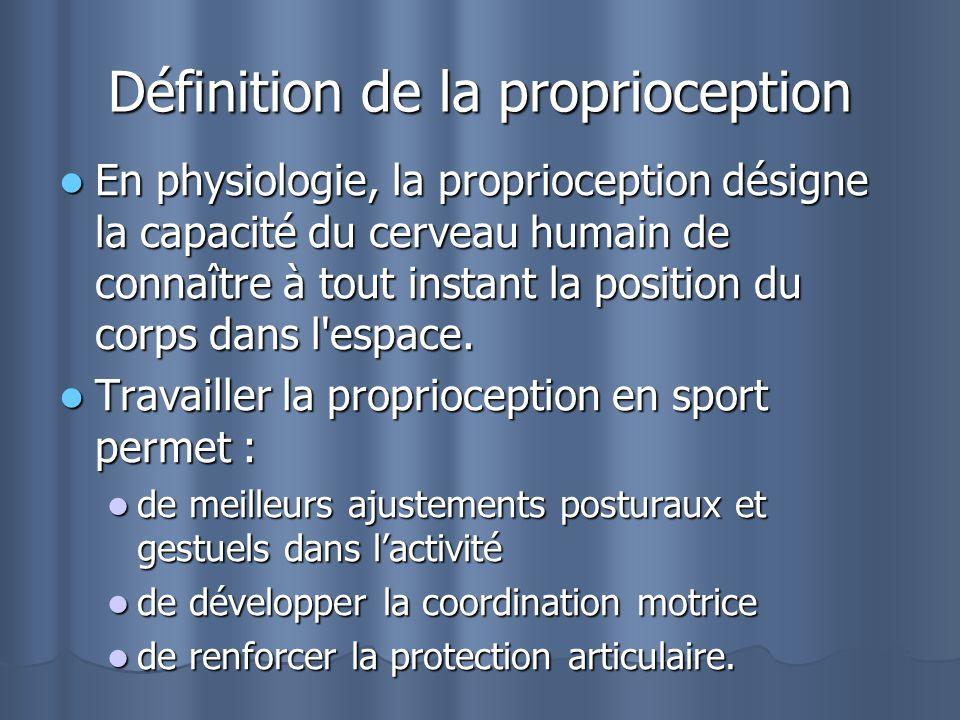 Définition de la proprioception