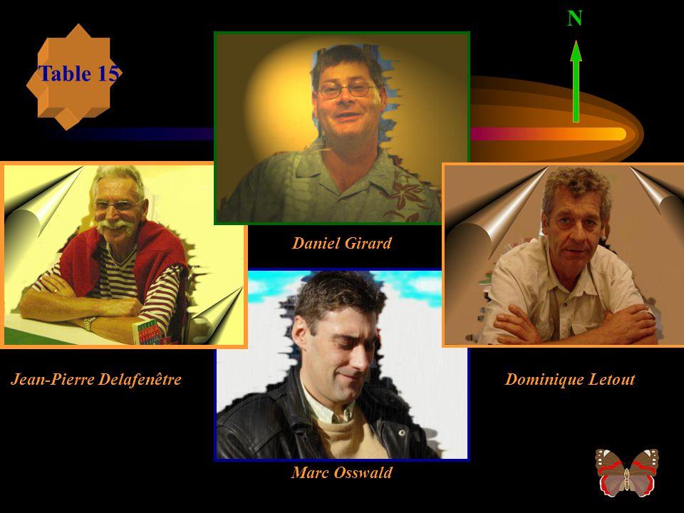 N Table 15 Daniel Girard Jean-Pierre Delafenêtre Dominique Letout
