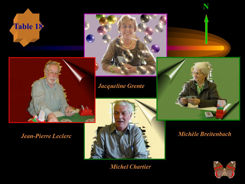 N Table 18 Jacqueline Grente Michèle Breitenbach Jean-Pierre Leclerc