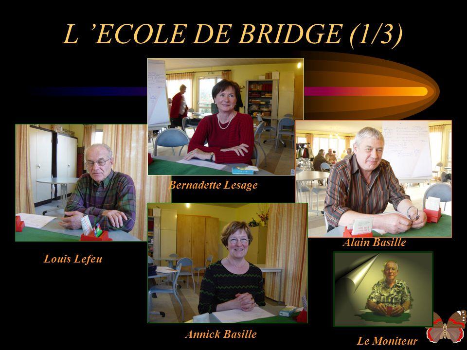 L 'ECOLE DE BRIDGE (1/3) Bernadette Lesage Alain Basille Louis Lefeu