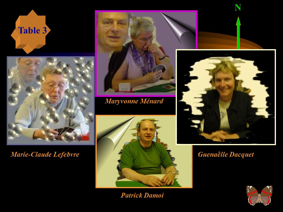 N Table 3 Maryvonne Ménard Marie-Claude Lefebvre Guenaêlle Dacquet