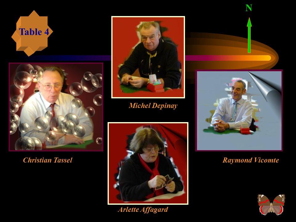 N Table 4 Michel Depinay Christian Tassel Raymond Vicomte