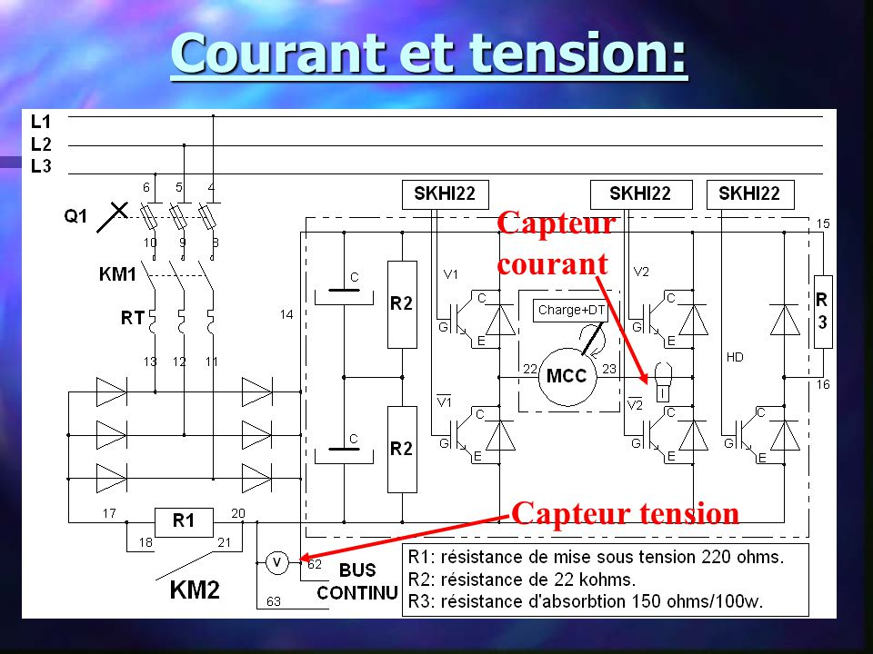 Courant et tension: Capteur courant Capteur tension