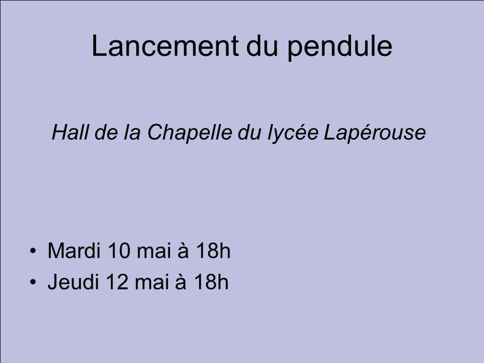 Hall de la Chapelle du lycée Lapérouse