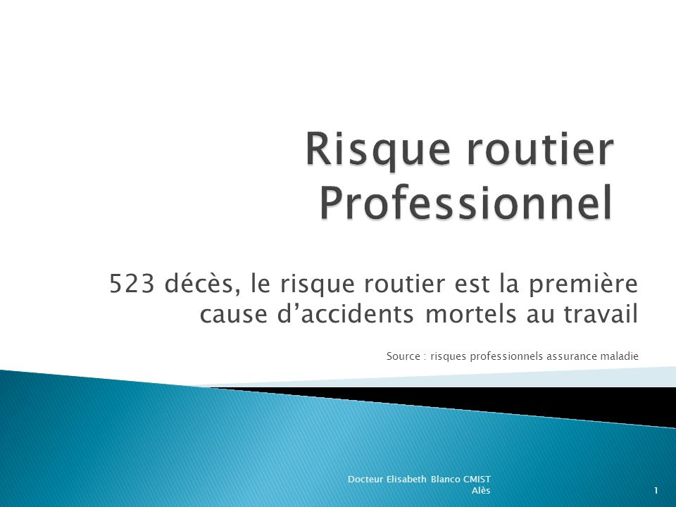 Risque routier Professionnel