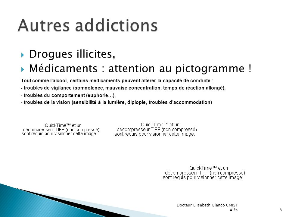 Autres addictions Drogues illicites,