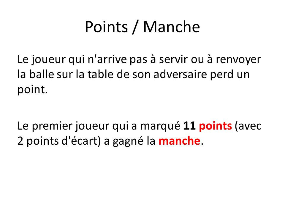Points / Manche