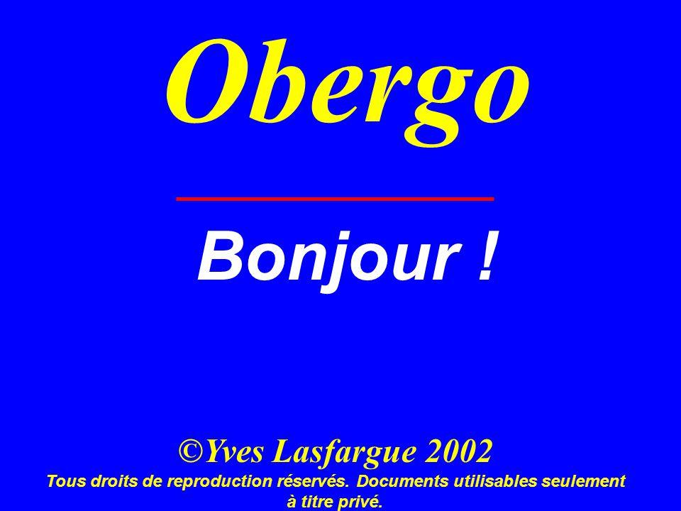 Obergo Bonjour . ©Yves Lasfargue 2002 Tous droits de reproduction réservés.