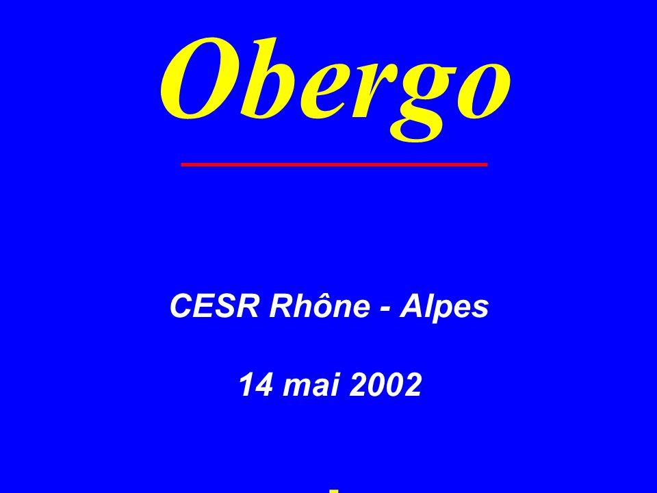 Obergo CESR Rhône - Alpes 14 mai 2002 -