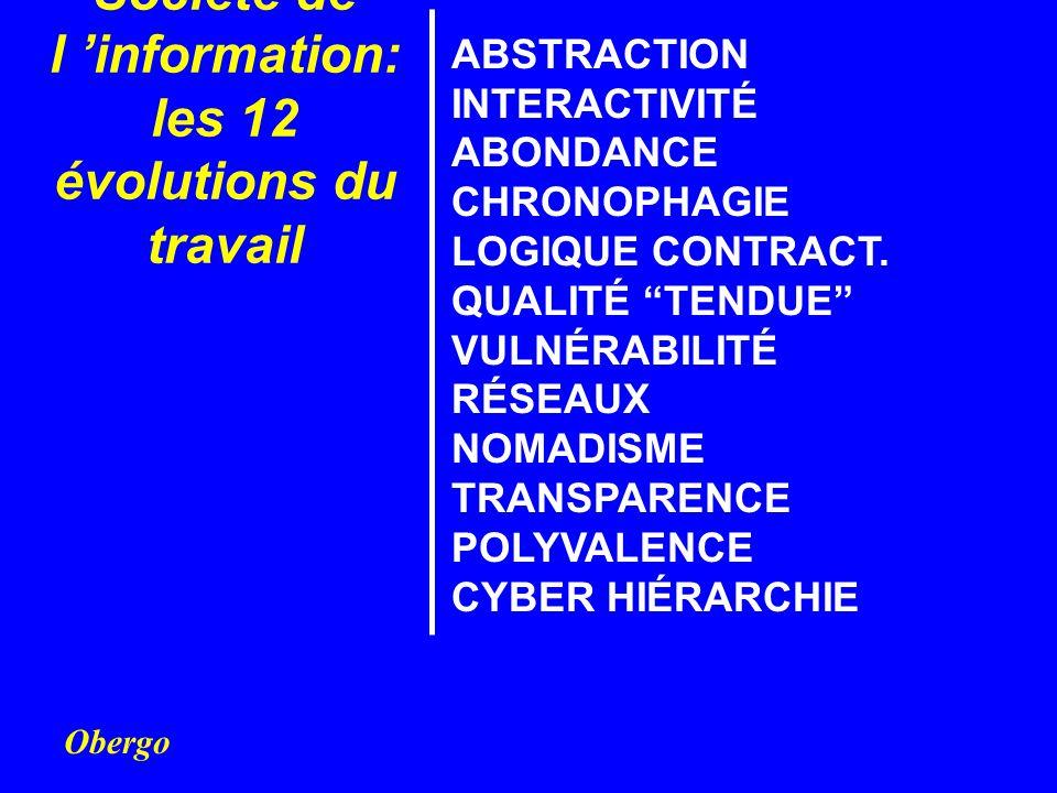 Société de l 'information: les 12 évolutions du travail