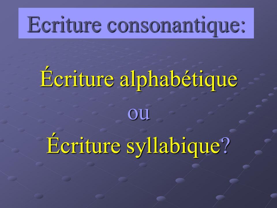 Ecriture consonantique: