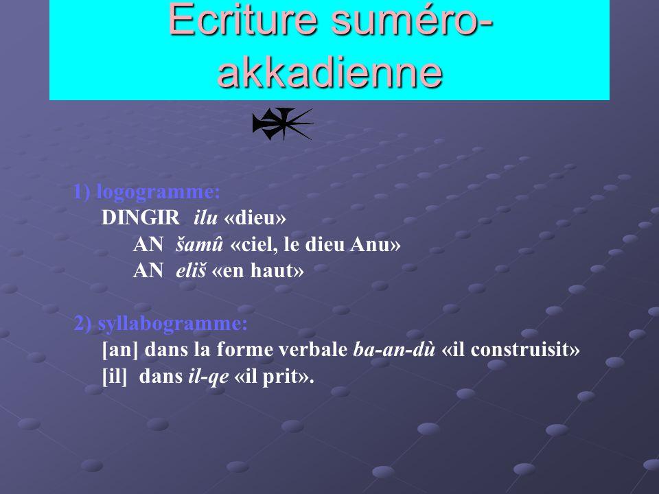 Ecriture suméro-akkadienne