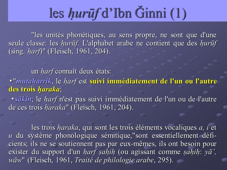 les hurūf d'Ibn Ğinni (1)