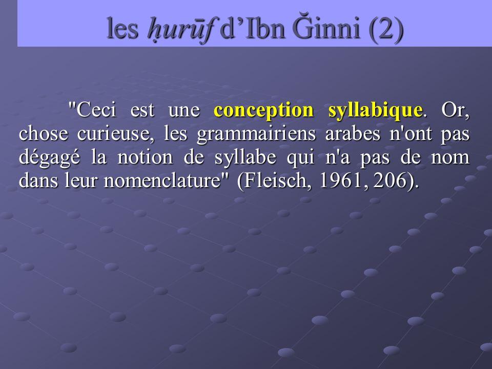 les hurūf d'Ibn Ğinni (2)